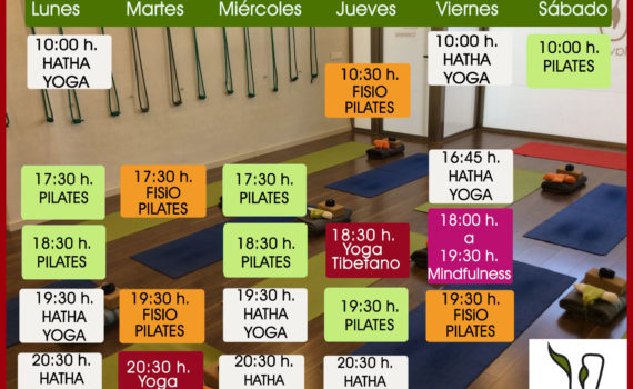 horario actividades septiembre